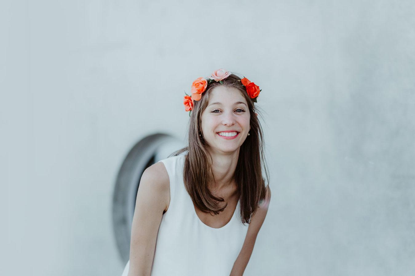 seance photo evjf bordeaux couronne de fleurs
