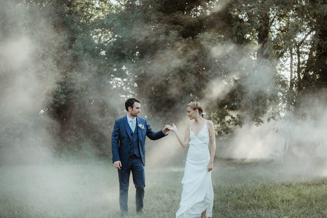 mariage foret fumigenes chateau lavalade