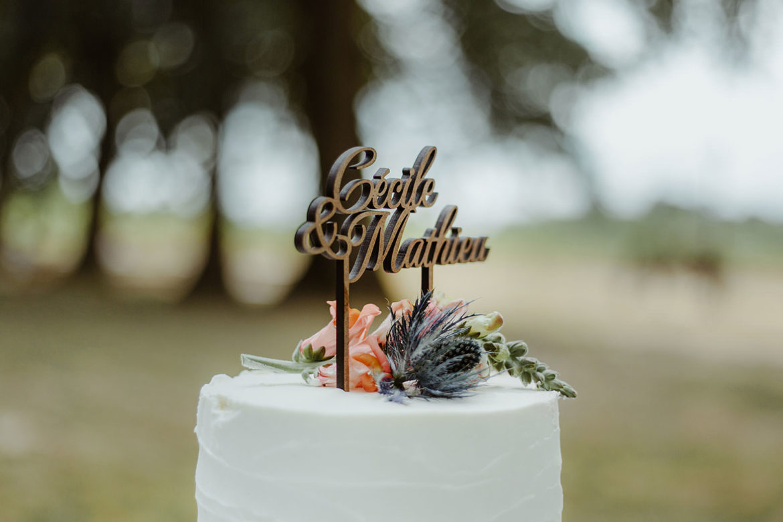 gateau mariage boheme chic decoration