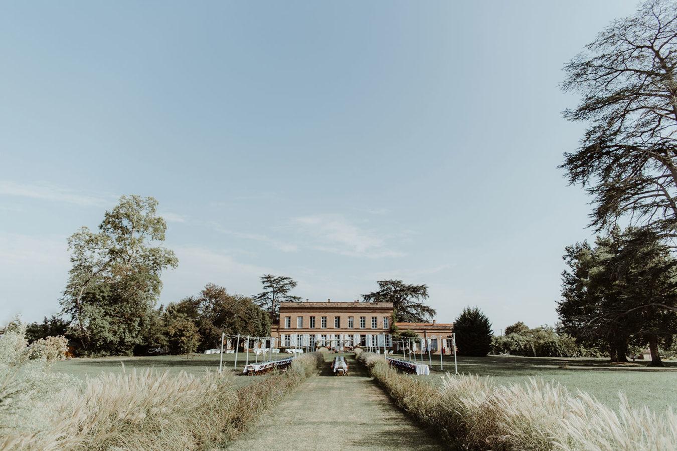 photographe mariage chateau lavalade installation
