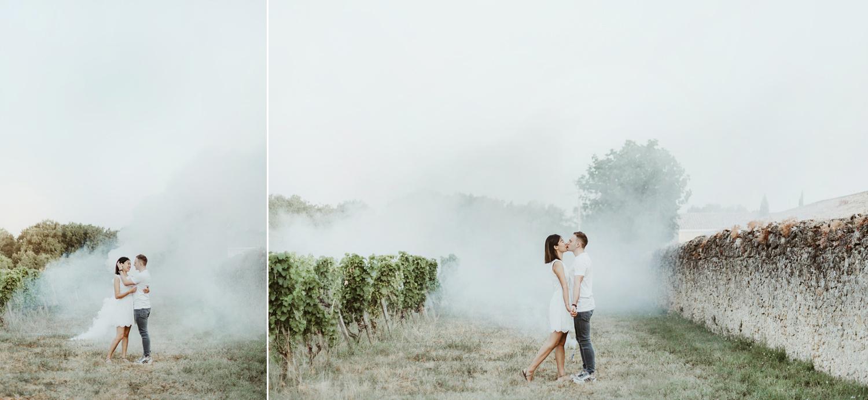 photographer saint-emilion couple engagement session chateau lafaurie peyraguey