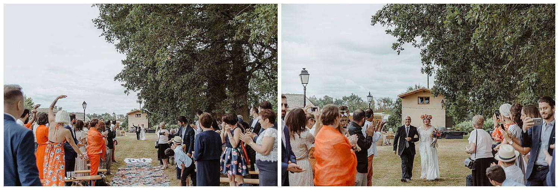 entree de la mariée ceremonie laique chateau de piote
