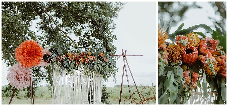 arche florale mariage chateau de piote bordeaux