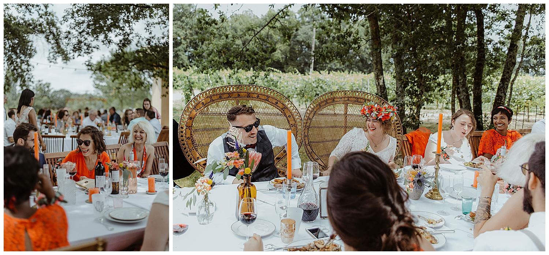 repas de mariage en exterieur à Bordeaux