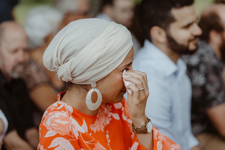 invitee emue lors des discours des mariés