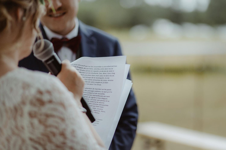 discours de la mariee et son micro