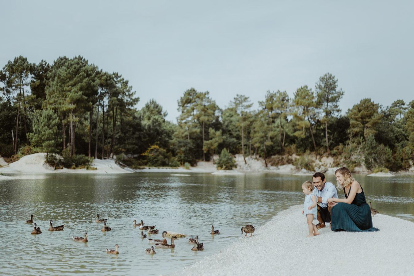 seance photo portrait famille lac canards