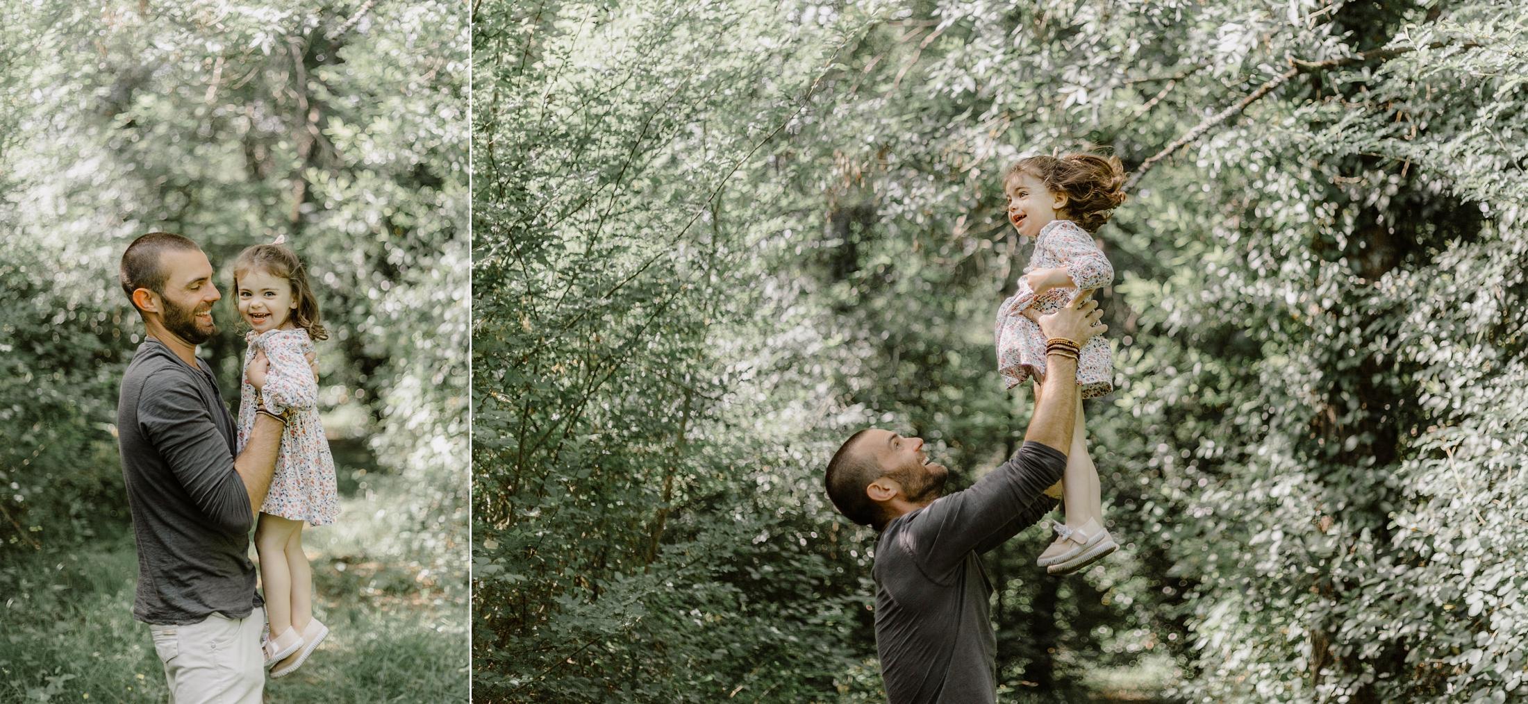 Séance photo père fille à Bordeaux en famille par Jade Sequeval